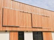 Schiebladen-Holz-Vertikal-Alurahmen