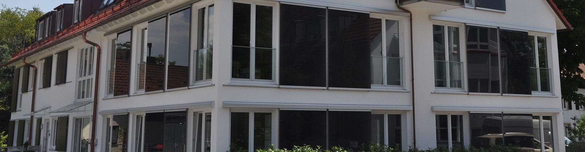Glas-Schiebeläden-rahmenlos-Schiebeladenantrieb